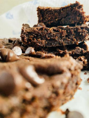 Healthy chickpea brownie